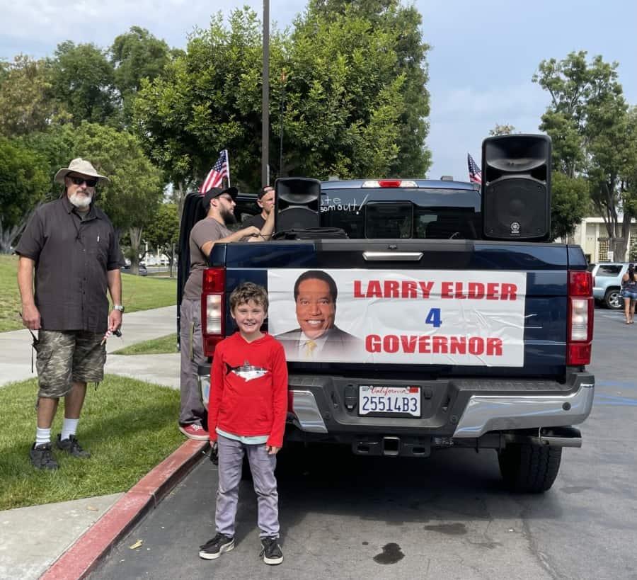 Larry Elder for Governor truck. Photo: Nurit Greenger.