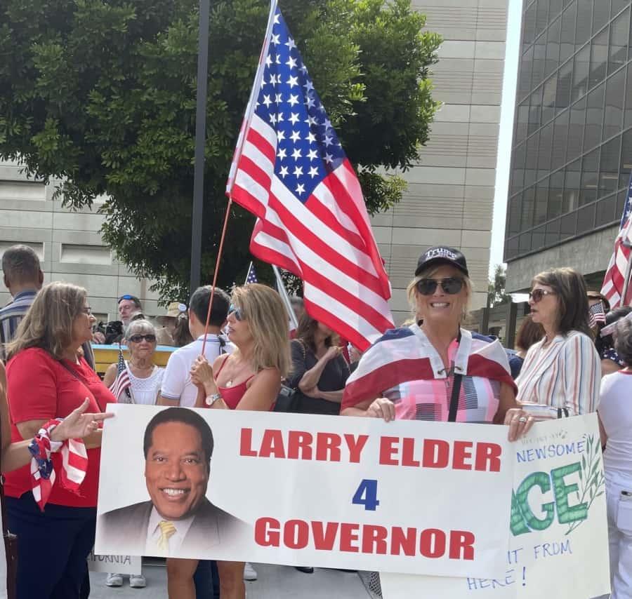 Larry Elder for Governor. Photo: Nurit Greenger.