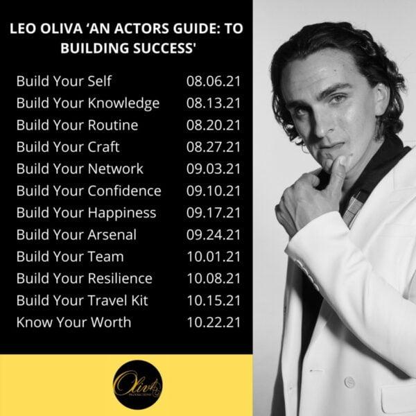 أطلق Leo Oliva 'دليل الممثلين إلى: بناء النجاح' IGTV Series 1