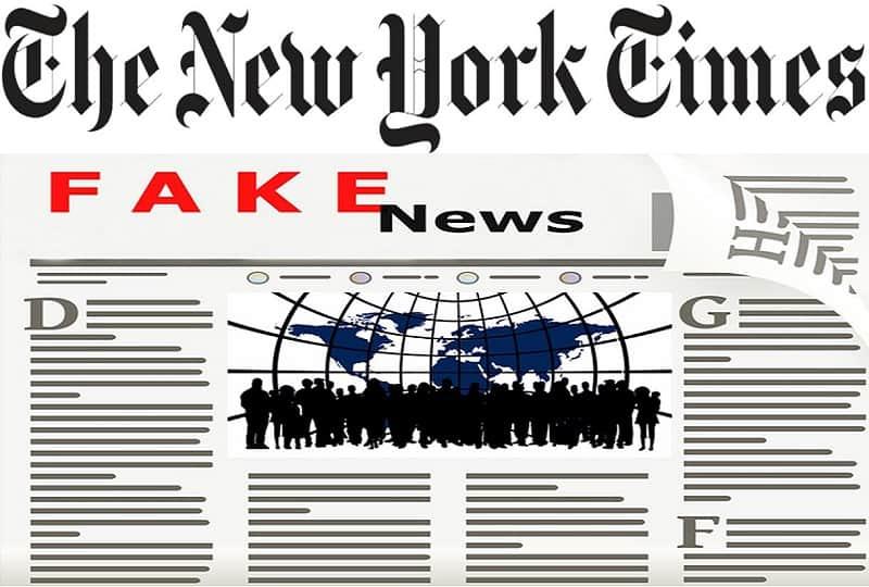 न्यूयॉर्क टाइम्स फेक न्यूज