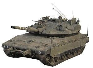 The Merkava tank - Source: Israel Defense Forces Spokesperson UnitDerivative: User:MathKnight, CC BY-SA 4.0, via Wikimedia Commons
