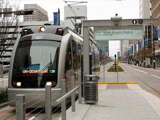 downtown houston metro rail. Photo Credit: City of Houston Culture.